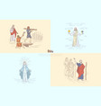 bible story plots myth and legends vector image