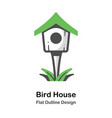 bird house outline flat vector image vector image