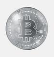 bitcoin coin grayscale vector image vector image