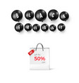 black friday offer template season discount vector image vector image
