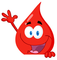 Blood Guy Waving Over A Blank Sign vector image vector image