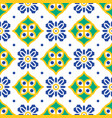 blue and green mediterranean seamless tile pattern vector image vector image