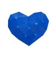 blue cold heart vector image