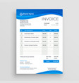 blue invoice template design vector image vector image