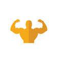 body building icon simple flat element from vector image vector image