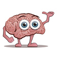 Brain Character with Hands and Feet vector image vector image