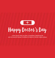 card style for doctor day art vector image vector image