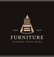 chair on spotlight vintage furniture logo icon vector image