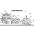 china chengdu architecture line skyline vector image vector image