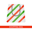 christmas paper shopping bag vector image