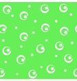 Circle white seamless pattern vector image vector image
