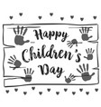 collection hand draw children day background vector image vector image