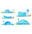 control tower airport terminal buildings vector image