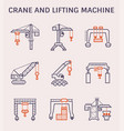 crane lifting icon vector image