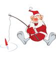 Cute Santa Claus Fisherman vector image vector image