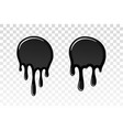 drip paint 3d set ink stain drop melt liquid vector image vector image