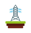 electric tower isolated icon vector image vector image