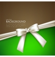 elegant background with white bow vector image vector image