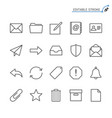 email line icons editable stroke vector image