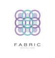 fabric original logo creative geometrical badge vector image vector image