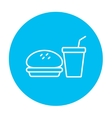 Fast food meal line icon vector image vector image