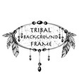 feathers boho style circle frames vector image vector image