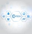 fin tech internet concept vector image