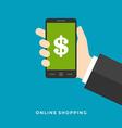 Flat design business concept Online banking