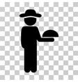 gentleman waiter icon vector image vector image