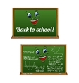 Green chalkboards for Back to School design vector image vector image