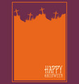 halloween frame style unique collection vector image vector image
