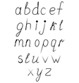 Handwritten uppercase alphabet vector image