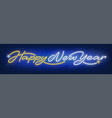 happy new year neon text vector image vector image