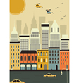Helicopters over New York vector image