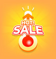 hot sale with thermometer special offer summer vector image vector image
