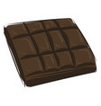 image chocolate - milk chocolate or color vector image vector image