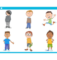 kid boys characters cartoon set vector image vector image
