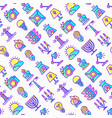 lighting seamless pattern with thin line icons vector image vector image