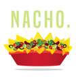 loaded vegetarian cheese nacho plate vector image vector image