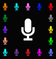 microphone icon sign Lots of colorful symbols for vector image vector image