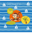 Monkey on a safari vector image vector image