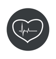 Monochrome round cardiology icon vector image vector image