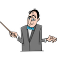 orchestra conductor cartoon vector image vector image