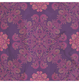 ornamental seamless pattern on purple texture vector image vector image