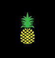 pineapple with leaf logo icon heart shape design vector image vector image