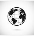 planet icon for app or web earth sign or world vector image vector image