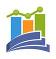 profit report management vector image