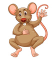 Rat with brown fur vector image