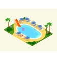 Realistic isometric outdoor waterpool vector image