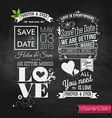 Save the date for personal holiday Vintage vector image vector image